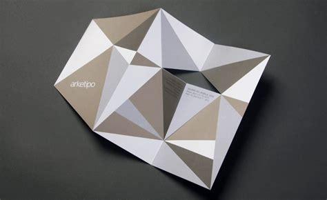 geometrical origami salone mobile 2010 invitations design wallpaper