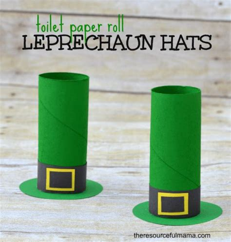 leprechaun toilet paper roll craft toilet paper roll leprechaun hat craft o brian