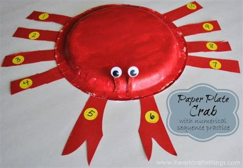 paper plate crab craft 25 best paper plate crab ideas on
