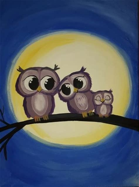 paint nite with 25 unique owl paintings ideas on owl