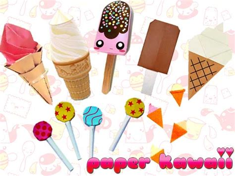 kawaii paper crafts illusion 3d paper crafts