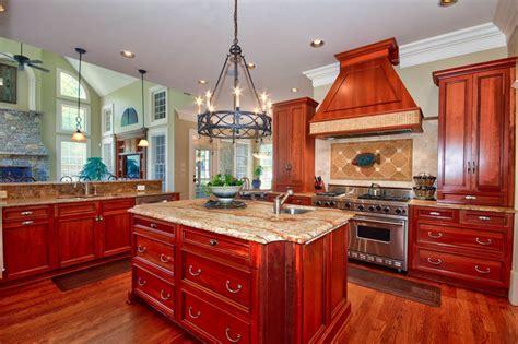 kitchen ideas cherry cabinets 23 cherry wood kitchens cabinet designs ideas designing idea