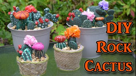 painting rocks for garden diy painted rocks cactus decorations