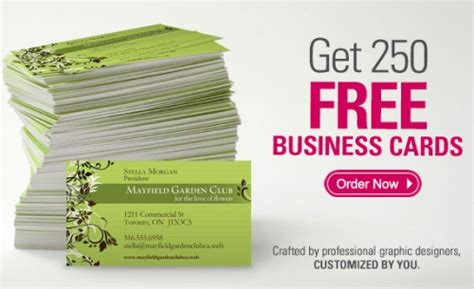 how to make free business cards vistaprint 250 business cards for 7 99 shipped