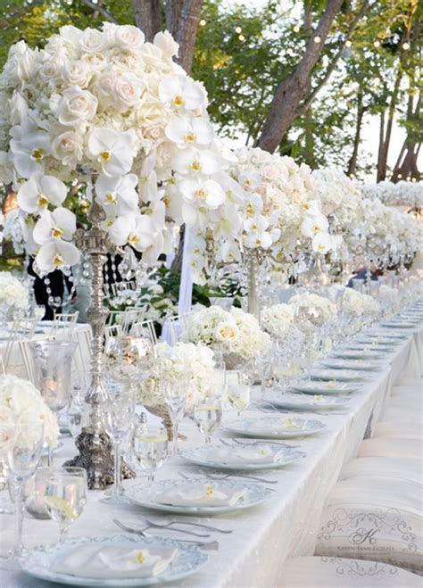 silver and white silver and white creates the modern wedding theme