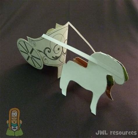 how to make things out of pony free template to cut make paper chariot and oh so