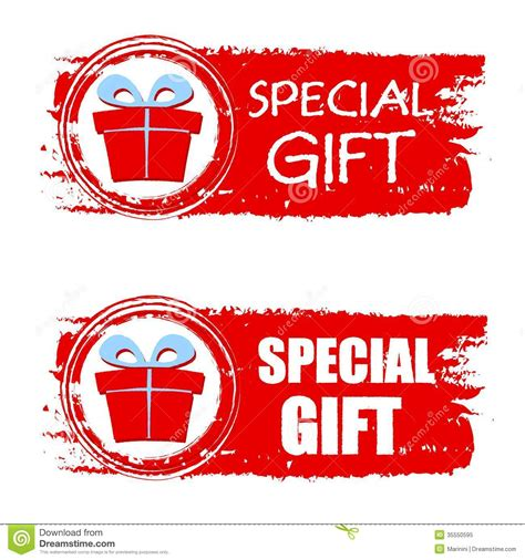 gift specials special gift and present box on banner