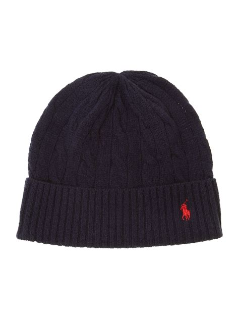 polo knit hats polo ralph cable knit beanie hat in blue for