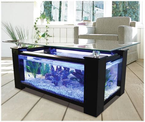 wonderful fish tank coffee table also added materials
