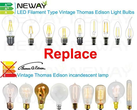 type a light bulb led 3 5w led filament type vintage edison light bulbs