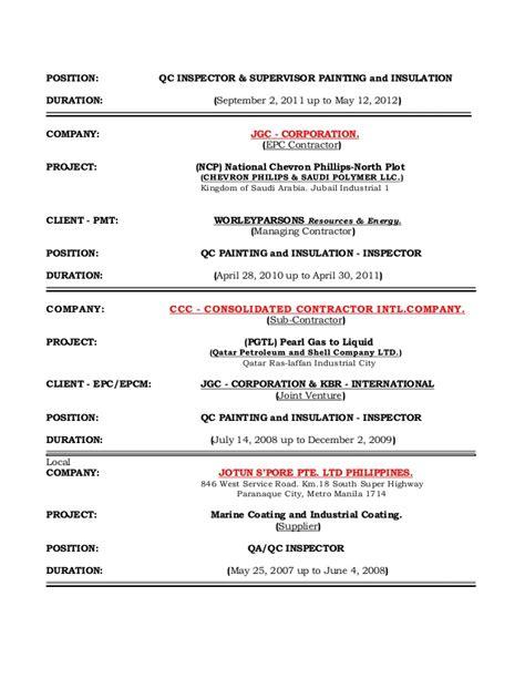 spray painter resume paint spray inspector resume cover letter resume
