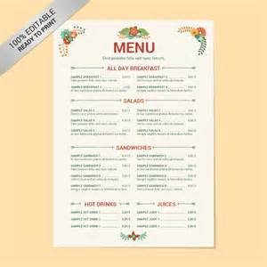 free menu templates 24 free word pdf documents