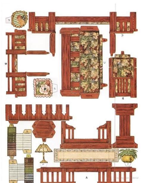 paper craft company cut assemble paper dollhouse furniture by american