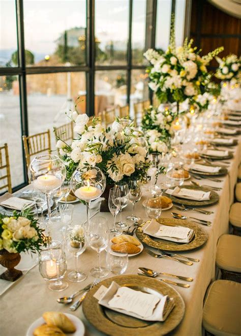 gold and white decorations best 25 banquet table decorations ideas on