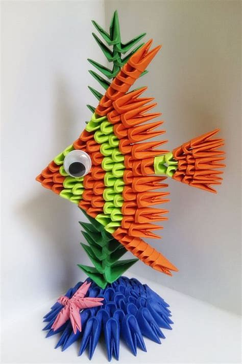 how to make a 3d origami fish 3d origami fish paper fish 3d fish origami fish 3d