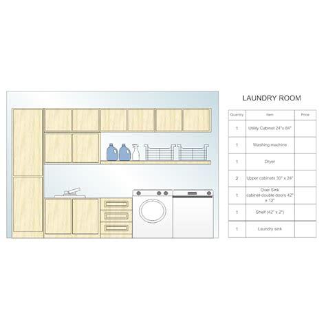 Smartdraw Floor Plan laundry room design