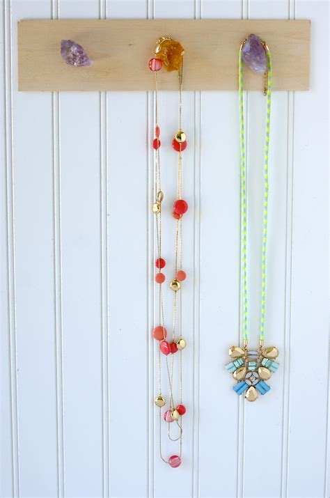 make your own jewelry holder diy gemstone jewelry holder a charming project
