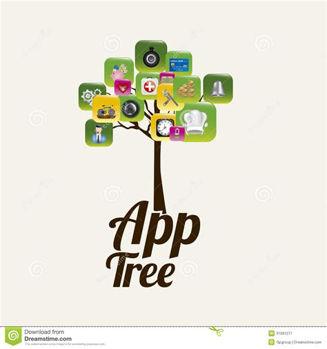 tree app app tree royalty free stock photography image 31091277