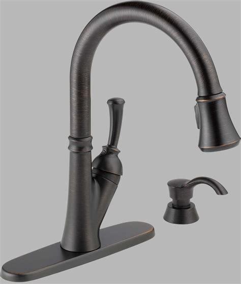 delta savile kitchen faucet delta savile bronze kitchen faucet 19949 rbsd dst