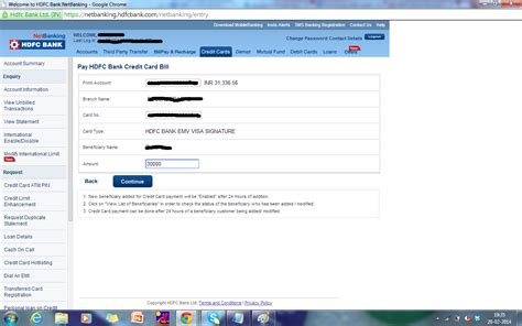 how to make hdfc credit card credit card payment images