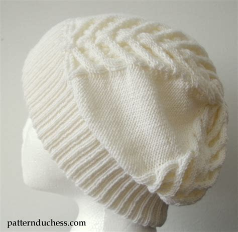 cable knit hat pattern cable knit slouchy hat with brim pattern duchess