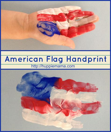 american crafts for american flag handprint our potluck family