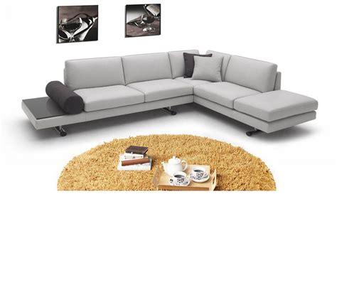 contemporary sectional leather sofa dreamfurniture 946 contemporary italian leather