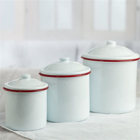 white kitchen canister set 28 white enamel kitchen canisters set white enamel