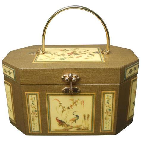 decoupage boxes for sale palm floral wood decoupage box purse ca 1970 for