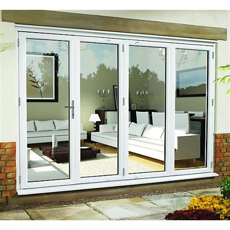 folding sliding patio doors wickes upvc external folding sliding patio door white