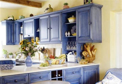 painting kitchen cabinet ideas kitchen cabinet painting ideas country style blue color