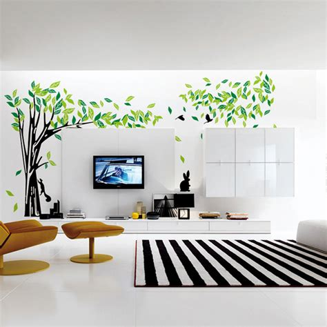 large wall stickers for living room aliexpress buy large green tree wall sticker vinyl