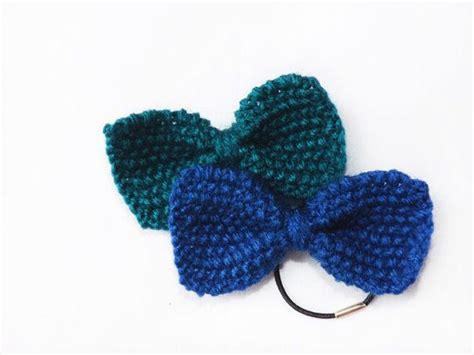 knit bow tie pattern pdf knitting pattern hair bow mini knit bow tie