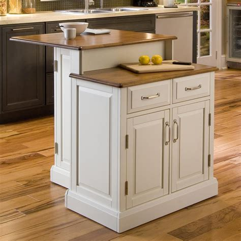 shop home styles white midcentury kitchen islands at lowes