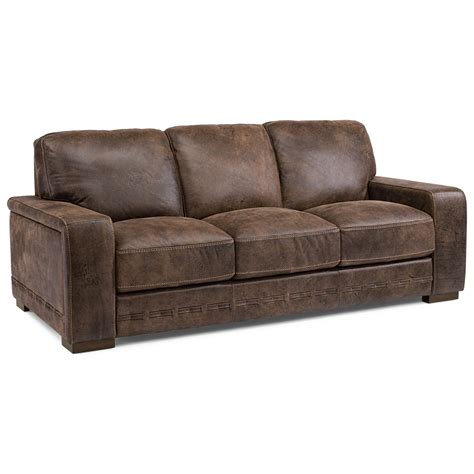 flexsteel leather sofa flexsteel buxton contemporary leather sofa olinde s