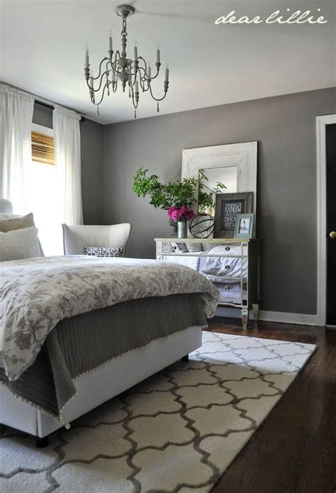 Wall Paint Ideas For Bedroom some finishing touches to our gray guest bedroom by rug