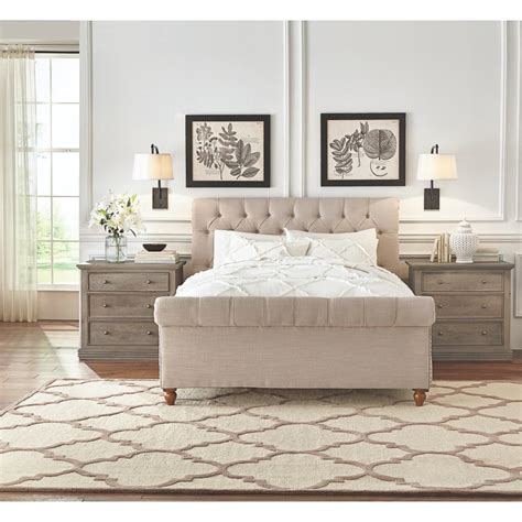 organic bedroom furniture home decorators collection gordon king sleigh bed