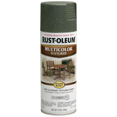 spray paint forest rust oleum stops rust 12 oz multi colored textured