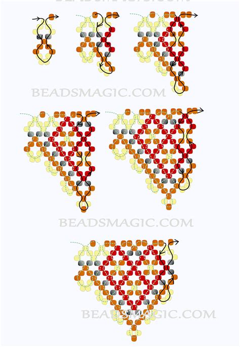 2 bead patterns mint 225 k on beading patterns seed and