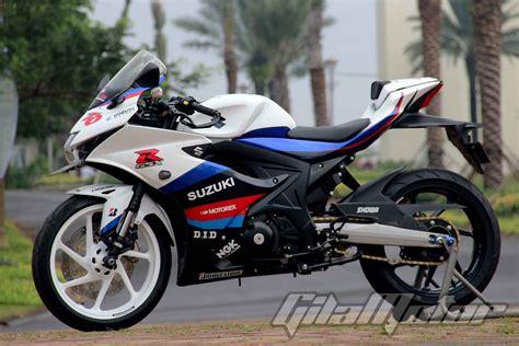 Modifikasi Motor Suzuki by Modifikasi Suzuki Gsx R150 Ngeri Pakai Kaki Kaki All