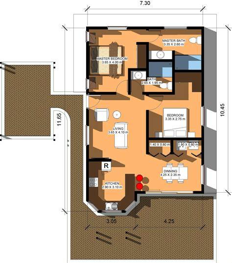 28 80 square meter house plan floor plans for 60