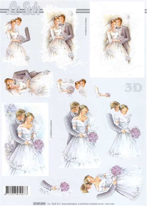 Wedding 1 3d Decoupage Sheet