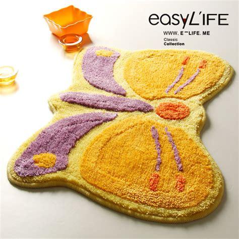 butterfly bathroom rug lovely butterfly non slip bathroom rug modern bath
