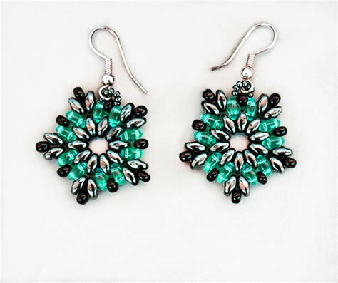 free beaded earring patterns free pattern for beaded earrings luzana magic