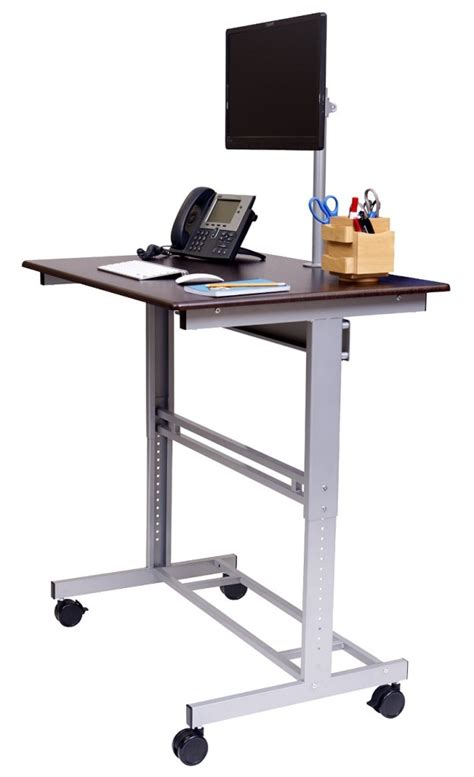 monitor desk stands standing desk monitor stand whitevan