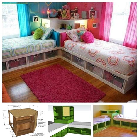 bedroom ideas for two beds space saving bed corner unit guide and tutorial