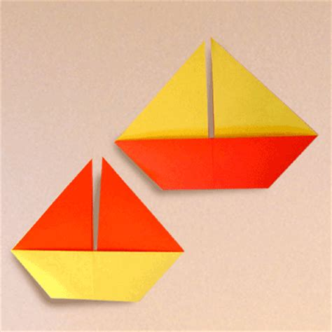 origami sail boat how to make a sail boat origami papermodeler