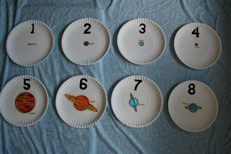 planet crafts for pink and green outer space planet counting plates