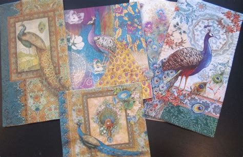 decoupage artists made peacock paper napkins for decoupage