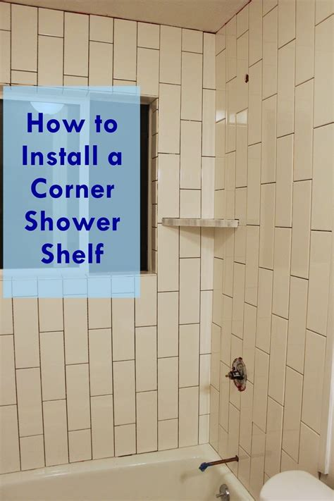 how to install a bathroom shower how to install a tile shower corner shelf